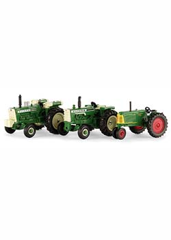 1:64 Scale Oliver Vintage Tractor Set (1950T, 1555, 88) Thumbnail